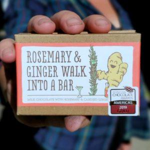 Rosemary and Ginger Chocolate Bar