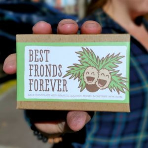 Artisan Chocolate Bar, Best Fronds Forever