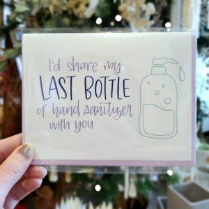 Last Bottle of Hand Sanitizer card