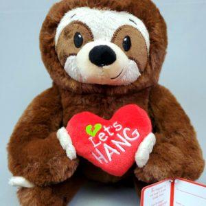 Plush Valentine's Sloth