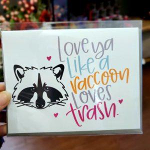 Raccoon Loves Trash